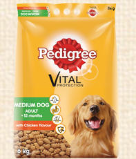 Pedigree medium dog adult dry food