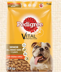 Pedigree senior dog adult dry food all sizes